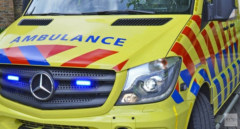 Automobiliste gewond bij kop-staartbotsing