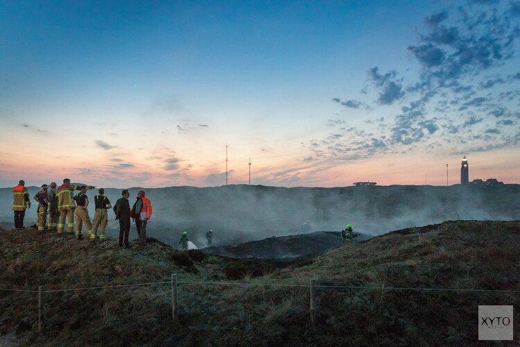 Duinbrand bij camping op Texel