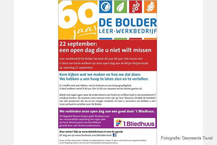 Zaterdag 22 september: open dag bij De Bolder