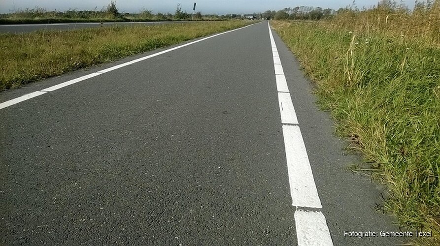 Nieuwe belijning op fietspaden Pontweg