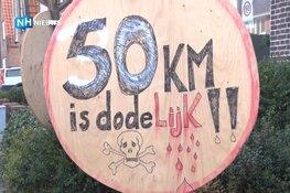 """Buurt in opstand: """"Als het hier 50 kilometer wordt dan gaan er ongelukken gebeuren"""""""