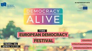 Democracy Alive 11 t/m 13 april