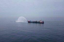 Olievlek in Noordzee opgeruimd: schoonmakers Texel nog wel stand-by