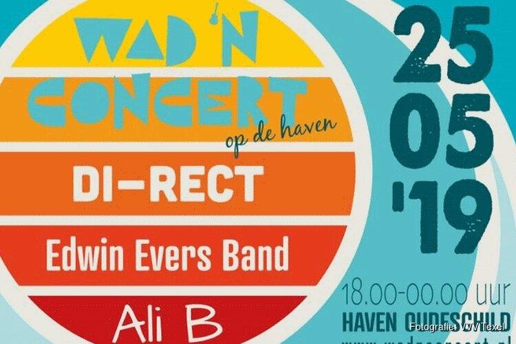 Eerste editie Wad n'Concert op 25 mei bij haven Oudeschild