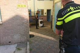 Droger in brand in woning