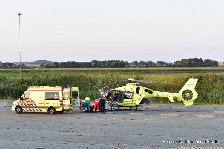Wielrenner opgehaald door traumahelikopter