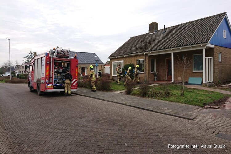 Woningbrand in Den Burg