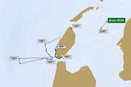 Albinozeehond Snow White blijkt druk baasje: hij zwom 25 kilometer de Noordzee op