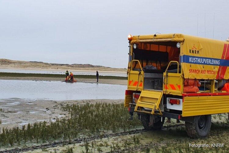 Vrouw uit drijfzand gered in natuurgebied Texel