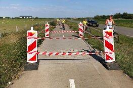 Fietspad op Texel barst eruit door de warmte