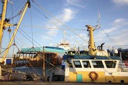 Onderzoeksschip Pelagia van NIOZ in het dok van Oudeschild