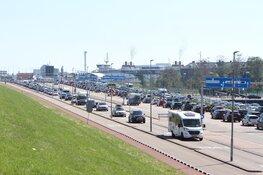 Verkeershinder Den Helder door drukte bij de TESO-boot naar Texel