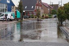 Zware regenval zorgt voor wateroverlast op Texel