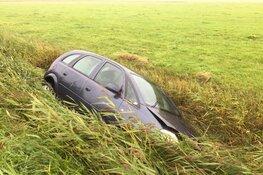 Auto te water bij eenzijdig ongeval